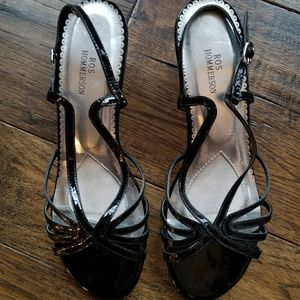 Ros Hommerson Black Strappy heeled sandals